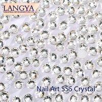 Wholesale Good Quality SS5 Clear Crystal Glue Fixed Nail Art Non Hotfix Rhinestones