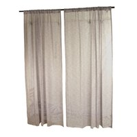Wholesale home textile solid color cotton linen curtain finished product half lightproof
