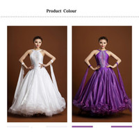 Wholesale Ballroom Standard Dress For Women vestidos de baile de salon LED Stage Costume Adult Ballroom Dance Competition Dresses