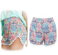 Wholesale New Fashion Women Lady s Sexy Summer High Waist Short Beach Foral Casual Pants Brand New Good Quality