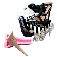 Wholesale M0985 fashion high heeled shoes heel fondant cake molds chocolate mold mould for the kitchen baking Sugarcraft Decoration Tool