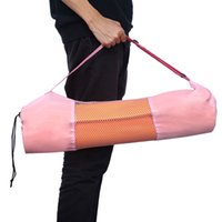 Wholesale Sport Bags Gym Bags New Nylon Yoga Pilates Mat Case Mesh Bag Carriers Pouch Multifunctional Fashion Size mm