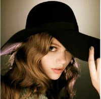 Wholesale 2016 Wide Brim Hats Korean Lady HAT Wool Hat Fashion Wool Hat And Autumn And Winter