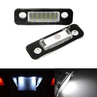 auto ford fiesta - 2x Error Free White LED License Number Plate Light Auto Rear Lamps Car Bulbs Sources fit for Ford Mondeo MK2 Fiesta Fusion