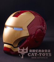 Wholesale New Arrival High Quality ABS Movie Iron Man Red Maask Life Size Cosplay Prop Helmet Iron Man Mask Face Open Mask