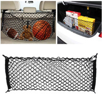 Wholesale CAR NET RACK TRUNK CARGO NET ORGANIZER Carry Box Luggage Carrier Basket SUV Truck Elastic Webbing Trailer Bungee With Cord Hooks