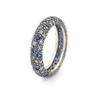 Wholesale Crystal rings S925 silver sterling hot sale for men and women girl pandora style RIP117