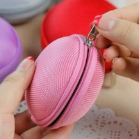 Wholesale New Cute Zipper Coin Purse Wallet Bag Headphone Storage Keychain Keyrings Key Chain for Car Keys Ring Clip EVA A062