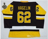 Wholesale CARL HAGELIN Jersey Third BlACK Stitched Jerseys With Final Patch PITTSBURGH Jerseys size small S xl Top quality