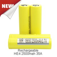 best lithium batteries - Genuine High Drain HE4 mah A Flat top Best Quality Battery Chargers For Box Mod Fedex Free Ship