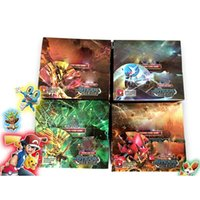Wholesale New Design Poke Monsters Pikacu Trading Cards Games Styles XY Anime Pocket Monsters Cards Toys Children Card Toys