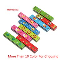 Wholesale Woodwind Instruments Tremolo Harmonica Holes Kids Musical Instrument Educational Musical Toy Retail
