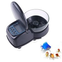 Wholesale Automatic Fish Feeder Black Mini Digital Automatic Aquarium Tank Fish Food Feeder Timer Quick Settings Easy Use
