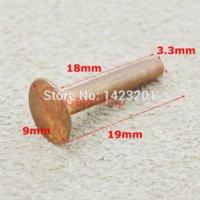 horse tack - 9mm Solid Copper Rivets amp Burrs Permanent Fasteners Gauge Horse Tack F224C18