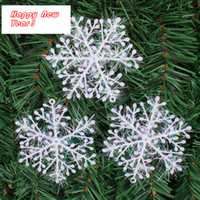 Wholesale Christmas Tree Decorations Snowflakes cm White Plastic Artificial Snow Christmas Decorations for Home Navidad