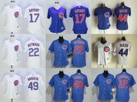 Wholesale 2016 New Womens Chicago Cubs Kris Bryant Anthony Rizzo Jake Arrieta Jason Heyward Baseball Jerseys Free Drop Shipping