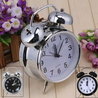 bell alarm clocks - Modern Metal Twin Double Bell Silent Quartz Analog Table Desk Alarm Clock