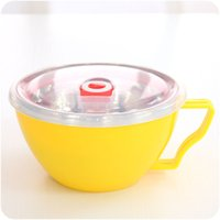 Wholesale 2016 New Stainless Steel Bowl With Cover Double Insulation And Anti Hot Lunch Box Food Container Soup