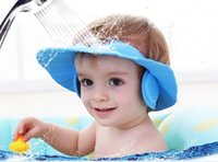 Wholesale Baby shampoo cap shampoo children waterproof ear cap shower cap infant children bathing cap can be adjusted