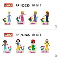 Wholesale 2016 JIEGO minifigures snow and Mermaid princess Frozen elsa anna Building Blocks puzzles children DIY Bricks Toys JG115