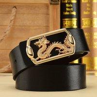 belt buckle earrings - new leading men s double leather belt buckle leather belt smooth business casual men s belts