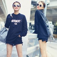 Wholesale 8301 hot High quality Women s Hoodies Sweatshirts Manual hole letter printing Hoodies jacket coat