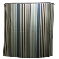 Wholesale 2016 Hot Sale New Fashion Striped Family Bathroom Shower Curtain Simple Polyester Ring Pull Easy To Install