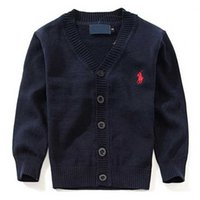 Wholesale New Brand Boy Sweater cotton baby sweater children s clothes V neck polo sweaters High Quality kids outerwear Girl sweater