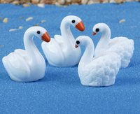 Wholesale fairy garden miniature Swan designs artificial mini swan Ornaments decors resin crafts bonsai decors