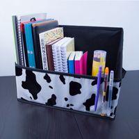 Wholesale office stationery filing storage box foldable book magazine storage holder desk drawer organizer collecting box price