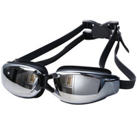 Wholesale 2016 Myopia Goggles Waterproof Goggles Short sighted HD Summer Swimming Goggles Glasses Men Women Outdoor Sports Lens Black Goggles