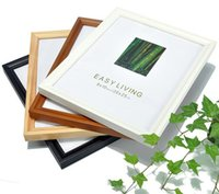 Wholesale 5inch picture frames home decoration pictures frames wood photos frame wedding usage mini photos with hook pictures frames with colors