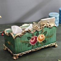 Wholesale The paper towel box American country napkin box luxury creative Home Furnishing ornaments European style of the ancient paper boxes