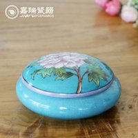 Wholesale Luxury Decorative Round Ceramic Jewelry box floral birds pattern bangle holder For Women Small Jewelry Box