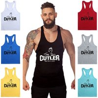 Wholesale Bodybuilding Tank Men Stringer Gym Muscle Singlet Sleeveless Fitness Print Vest Sport Gorilla Wear Undershirt Running vests
