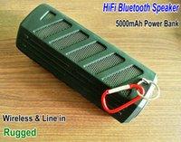 bank handsfree - High Quality Wireless HiFi Bluetooth Speaker Handsfree call mAh Power bank Rugged Outdoor bluetooth speaker