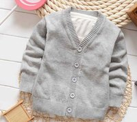 Wholesale Spring boy cardigan sweater autumn new candy colored sweater jacket good quality single breasted sweater