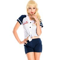 athletic high schools - Europe American Football Baseball Cheerleading Uniforms New Arrival Girls Party High School Sports Clothing Set Cosplay Uniform A158664