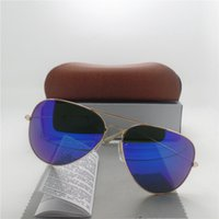 Wholesale New Sunglasses For Men Women Brand Designer High Quality Glasses Lens Classic Sun Glasses Pilot UV400 Vintage With Original Brown Case Box