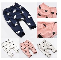 Wholesale Fashion Baby Kids Children Cartoon Whale Cotton Pants Trousers Leggings elastic waist toddler Leggings kids