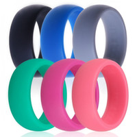 Wholesale Qalo high quality silicone wedding ring women mens silicone ring multi color rubber ring silicone magnetic toe ring