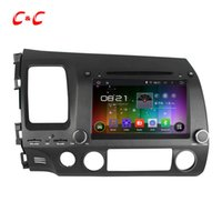 Wholesale 1024x600 Quad Core Android Car DVD Player for Honda Civic with Radio GPS Navi Wifi DVR Mirror Link SWC Free Gifts