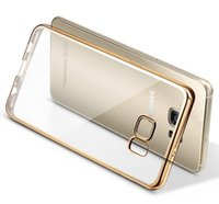 Wholesale For Iphone Case Colorful TPU Backcover Ultra Thin Case Galaxy S7 TPU Case Electroplating Technology Soft Gel Silicone Case DHL Free SCA08