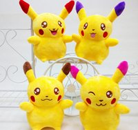 Wholesale Poke Plush Toys Pikachu Plush Cartoon Movie Stuffed Animals Toy Lovely Dolls Figures Poke Pikachu Plush cm LJJK507