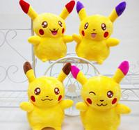 Wholesale Poke Plush Toys Pikachu Plush Cartoon Movie Stuffed Animals Toy Lovely Dolls Figures Poke Pikachu Plush cm LJJK507