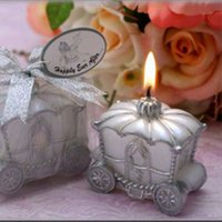 Wholesale Romantic Pumpkin Carriage Wedding Candles Price Wedding Gifts Paraffin Wax Candle Christmas Halloween Party Decoration Ornament