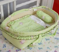 Wholesale 2016 Spring Winter month Baby Bed Portable Baby Crib With Netting Newborn Character Bed Cotton Travel Bed Mambobaby