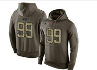 Nouveau Salute To Service Hoodie Pull # 99 JJ All Player Oilve Couleur Taille S - XXXL Football Hoodies Mix Match Ordre de haute qualité des chandails