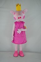 Wholesale Factory direct pink pig mascot costume adult princess costume show COS Halloween costume Christmas party cartoon adult size private custom c