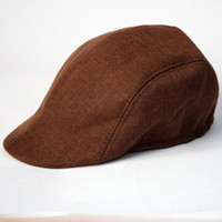 Wholesale Spring Autumn General Trend Korean Linen Beret Cap Director Middle age Men Duck Tongue Hat Gentleman Caps